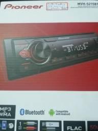 Auto rádio Pioneer usb auxiliar bluetooth novo na caixa garantia instalado
