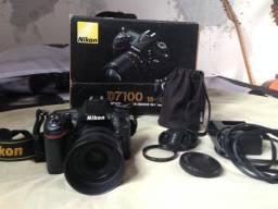 Câmera Nikon D7100 com Lente 35mm 1.8 Nikkor