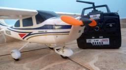 Aeromodelo Art-tech Cessna 182 completo + radio 5 canais + bateria - aceito cartão