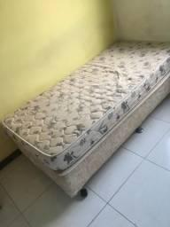 Cama box solteiro + colchão