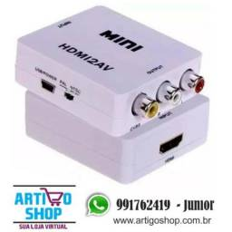 Mini Adaptador Conversor Sinal Hdmi Para Video Composto 3 Rca Audio e Video