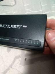 Switch 8 Portas Multilaser Rede Lan Fast Ethernet 10/100mbps
