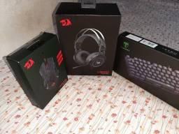 Kit Gamer - Teclado, Mouse e Headset