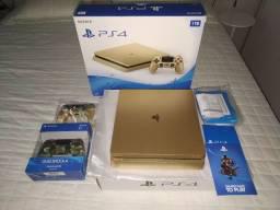 PS4  Gold  1TB  c/ 24 jogos , praticamente zero na caixa
