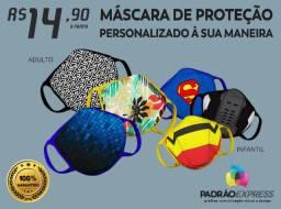 Máscara de proteção personalizada com a arte que você quiser! Black friday!