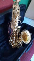 Sax reto soprano curvo, Spalla
