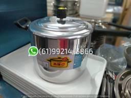 Panela de Pressão 10 Litros Abc Alumínio Polido Fechamento Interno