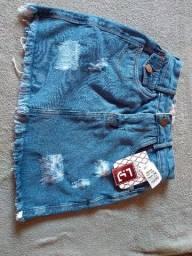 Saia jeans Tam 36 só venda