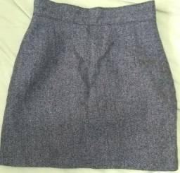 saia de lã cós alto