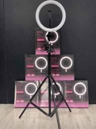 Ring Light 26cm com tripé 2m e suporte para celular Profissional