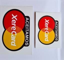 """Adesivo """"Aceitamos XereCard"""""""