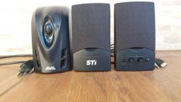Estabilizador SMS Revolution Speedy 300VA e Caixa de Som