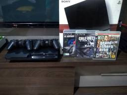 PS3 2 controles 4 jogos parcelo
