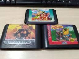 Lote 3 Games Mega Drive Originais Mickey Toe Jam Altered