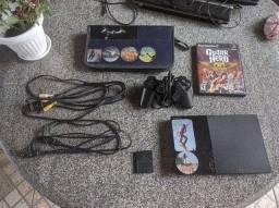 Playstation 2  Desbloqueado C/ Memory Card, 1 Jogo original e Capa para Jogos | PS2 Barato