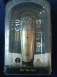 Microfone C-1U Behringer nunca usado!