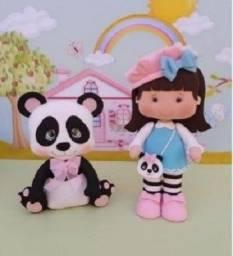 Bonecos e Bonecas em feltros - vários temas e com mascotes