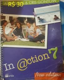 Livro De Ingles In @ction , New Edition 7 Ftd - R$ 30