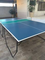 Mesa ping pong dobrável com rodízio klopf