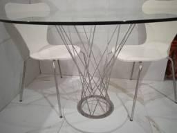 Mesa de jantar cromada