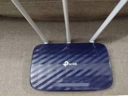tp-link modelo archer c20 ac 750 cor azul usado em perfeito estado de conservação.