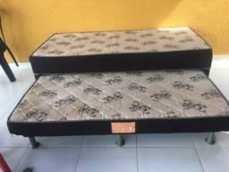 Cama box solteiro eurosono com cama auxiliar