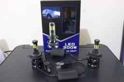 Título do anúncio: Par Ultra/Super LED H4 20.000 Lúmens 360graus