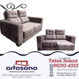 Título do anúncio: sofá sofá !! sofá retrátil reclinável