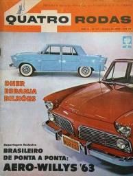 Título do anúncio: Quatro Rodas n°. 27 - 1962 - Aero-Willys, Salvador, Gordini