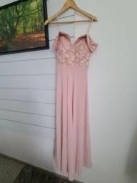 Título do anúncio: Vestido longo de festa rosa