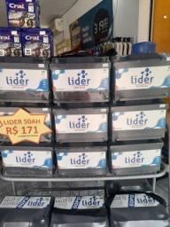 Título do anúncio: Baterias Lider 50ah por R$171.