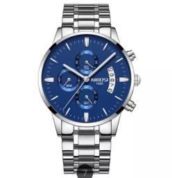 Relógio Nibosi modelo 2309, 100% original ,milésimo segundos minutos horas todo funcional