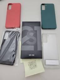 Samsung Galaxy S21 Plus Completo Nota Fiscal e garantia pela Samsung + 4 Capas