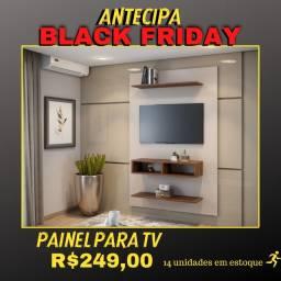 Título do anúncio: Painel Byte Para TV White / Imbuia NOVO