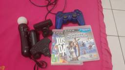 Kit movie ps3 + jogos e controle