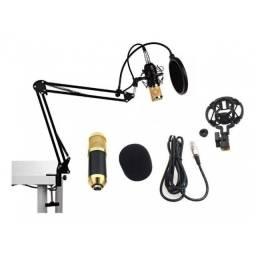 Kit Microfone De Estudio Profissional Condensador Knup Pop Filter Aranha Youtuber