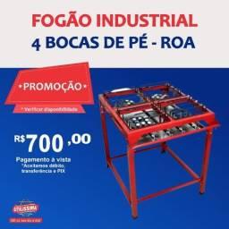 Título do anúncio: Fogão industrial 4 Bocas de pé ?