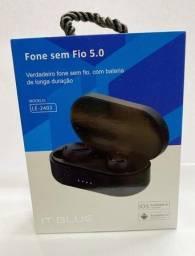 Fone Sem Fio Bluetooth 5.0 It Blue