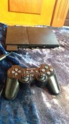 PS2 semi novo completo com 2 controles! Acompanha pen drive