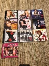 CDs Miley Cyrus + Rouge + Eliana + Xuxa