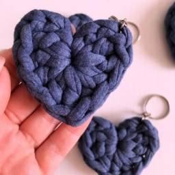 Título do anúncio: Chaveiro de crochê coração/ ursinho em crochê