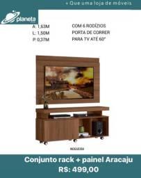 Conjunto Rack + Painel Aracaju Multiuso 0383