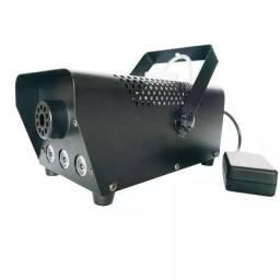 Máquina Fumaça 600w Iluminação Led Rgb + Controle (