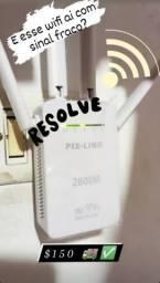 Repetidor wi fi 4 antenas