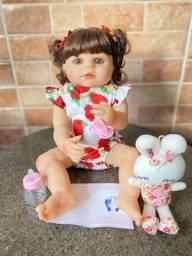 Título do anúncio: Boneca bebê Reborn toda em Silicone 55cm Nova (aceito cartão )