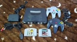Título do anúncio: Nintendo 64 com Star Fox e International Superstar Soccer 98
