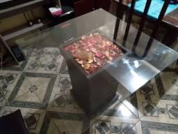 Título do anúncio: Mesa de vidro sala de jantar