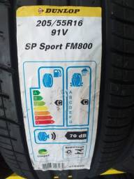 Pneu 205/55R16 SP Sport FM800 Dunlop com 5 anos de garantia.