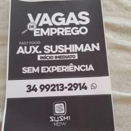 Título do anúncio: Vaga de auxiliar de sushimen