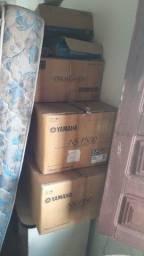 Caixa de som Yamaha subwoofer e Blu-ray Yamaha